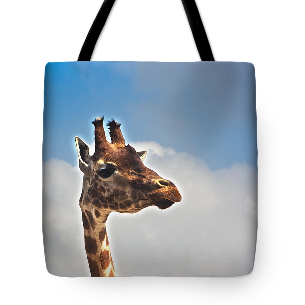 Giraffe Tote Bag featuring the photograph Not Amused by Peter Lloyd