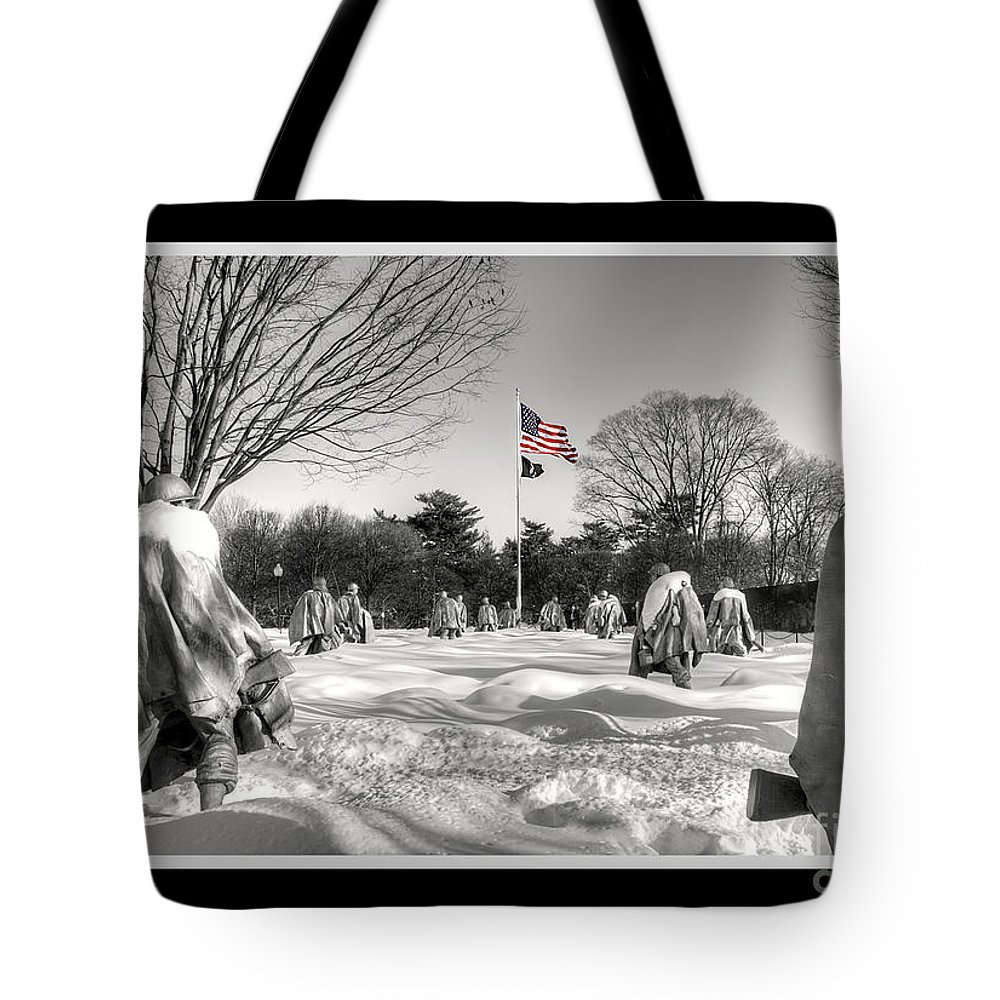 'korean War' Tote Bag featuring the photograph Not Forgotten by Traci Law