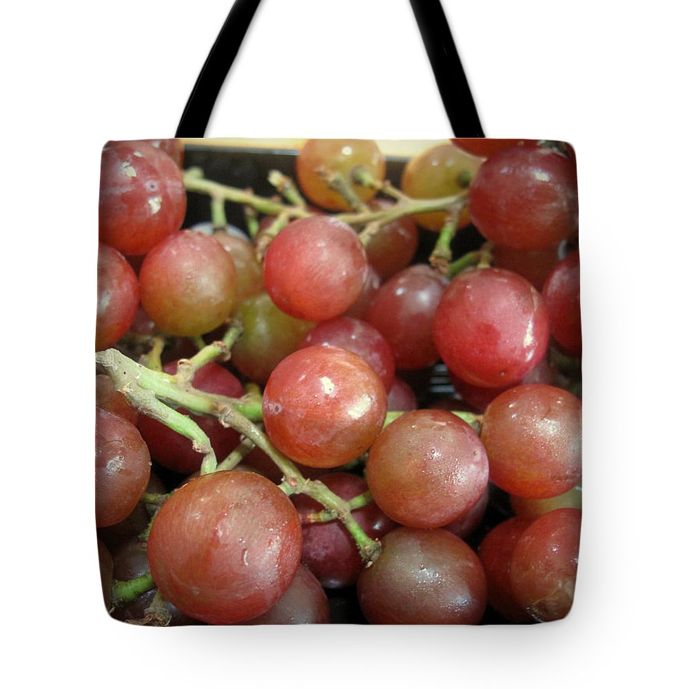 Grapes Tote Bag featuring the photograph Not Sour Grapes by Barbara McDevitt
