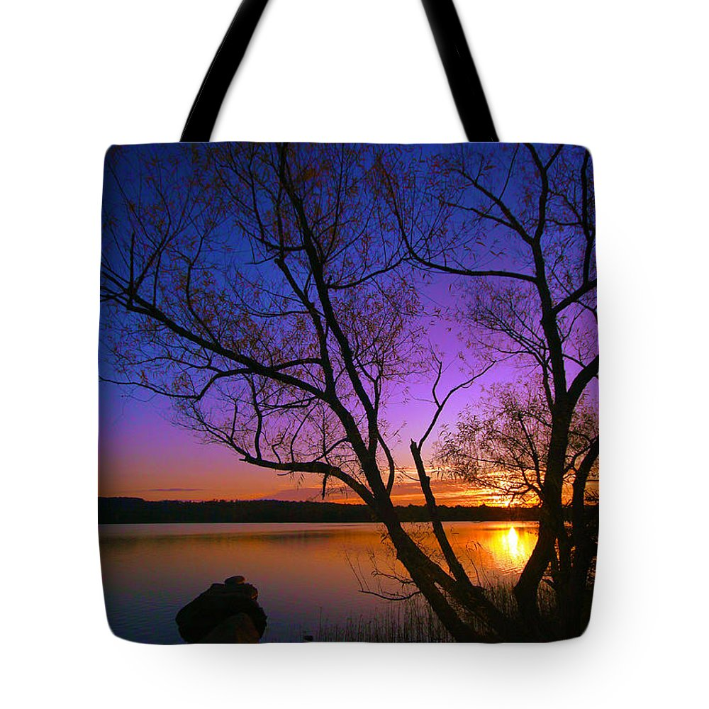 Sunrise Tote Bag featuring the photograph Nothing Gold Can Stay by Mitch Cat