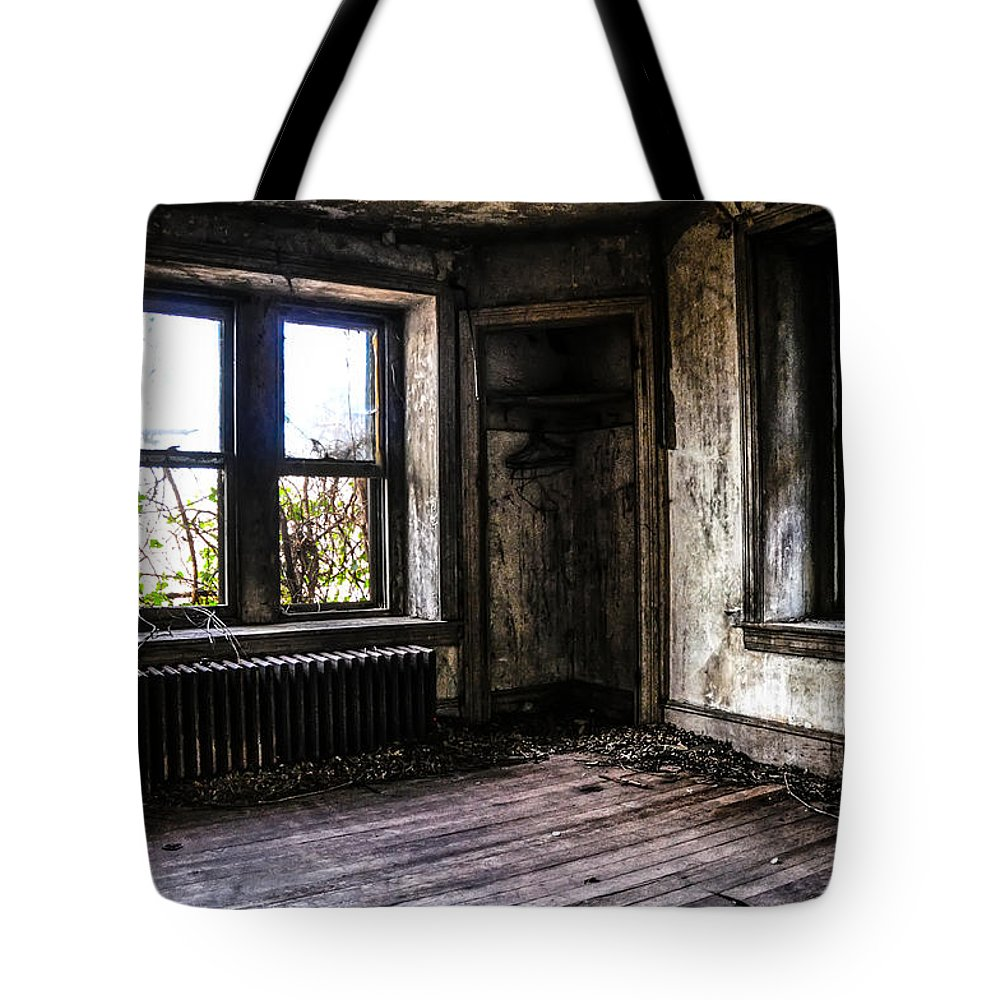 Nothing Tote Bag featuring the photograph Nothing Left But The Ghosts by Bill Cannon