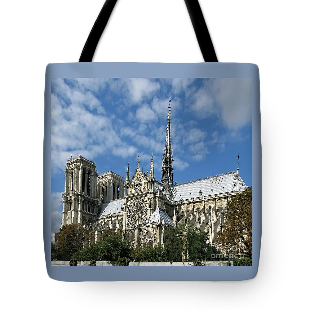 Notre Dame Tote Bag featuring the photograph Notre Dame Cathedral by Ann Horn
