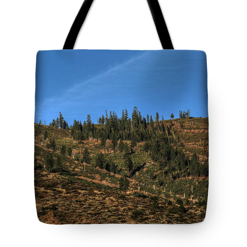 Full Moon Tote Bag featuring the photograph November Full Moonset Over The Sierras by Donna Kennedy