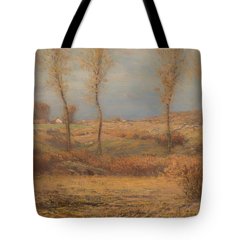 Painting Tote Bag featuring the painting November Morning by Mountain Dreams
