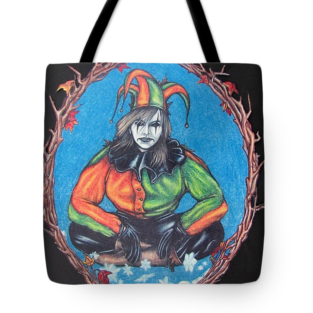 Michael Tote Bag featuring the drawing November Snow by Michael TMAD Finney