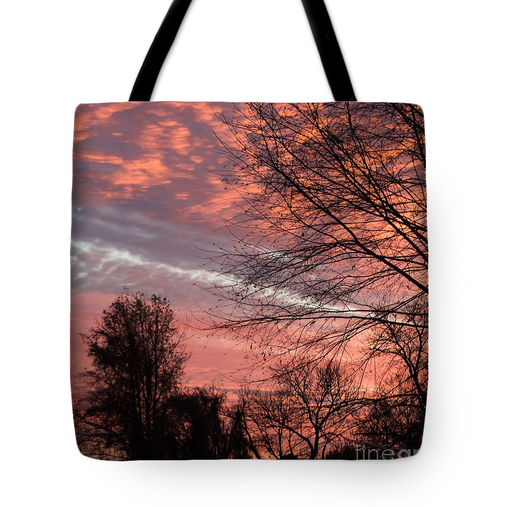 Sunset Tote Bag featuring the photograph November Sunset by Arlene Carmel