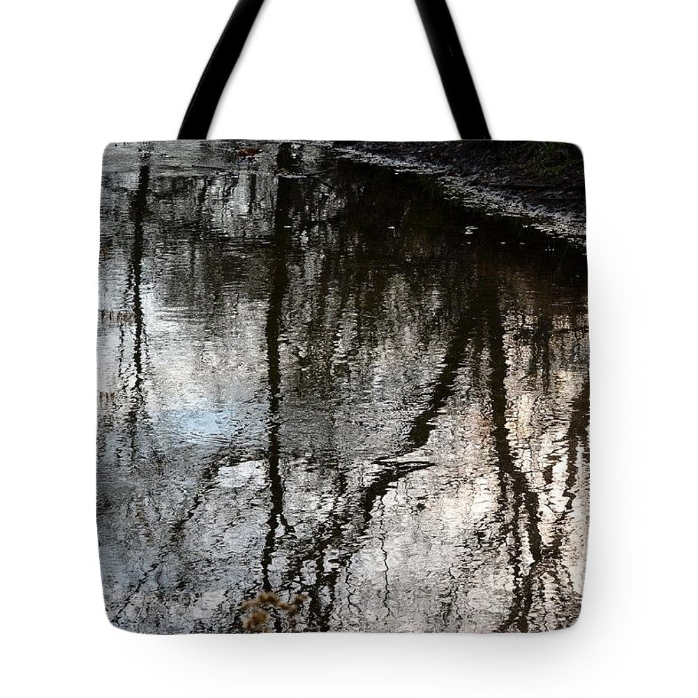 Reflections Tote Bag featuring the photograph November's Rippled Reflections by Karen Majkrzak