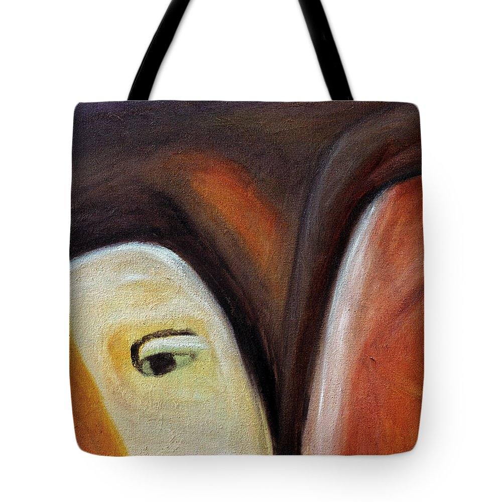 Novice And Sage Tote Bag featuring the painting Novice And Sage by Judith Chantler