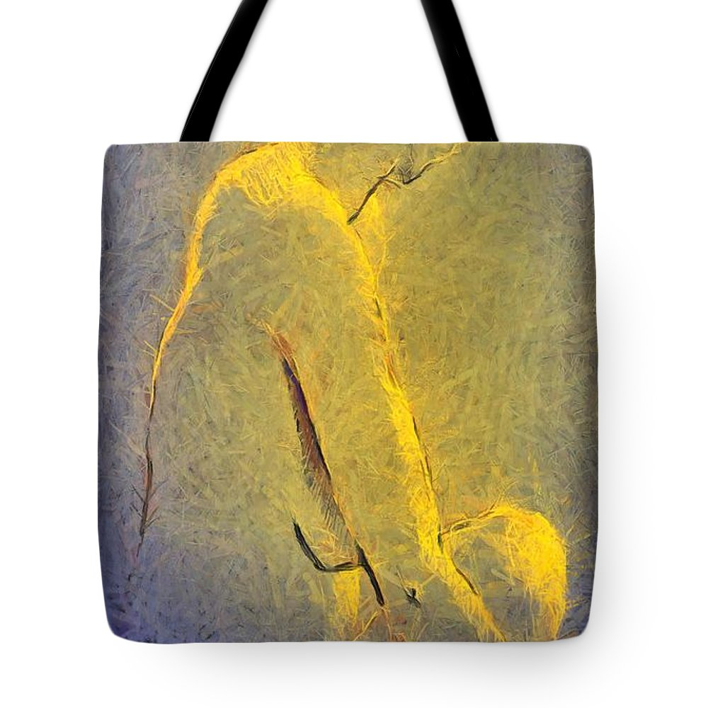 Nude Tote Bag featuring the painting Nude Iv by Dragica Micki Fortuna