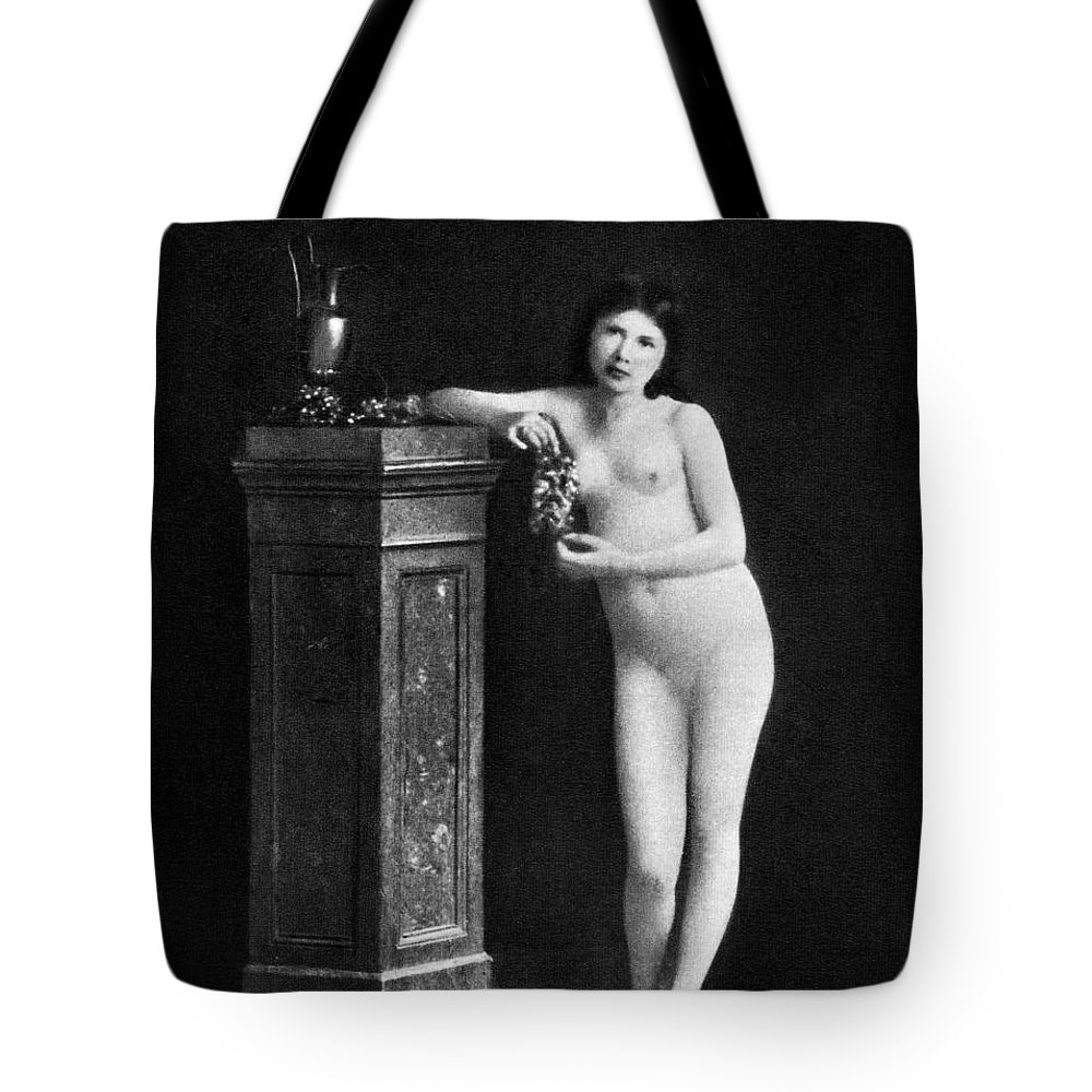 1850 Tote Bag featuring the photograph Nude With Grapes, C1850 by Granger