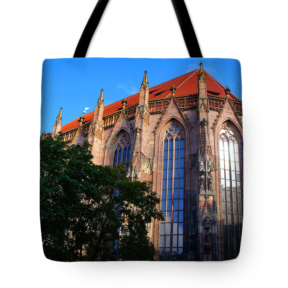 Nuremberg Tote Bag featuring the photograph Nuremberg Cathedral by Benjamin Reed