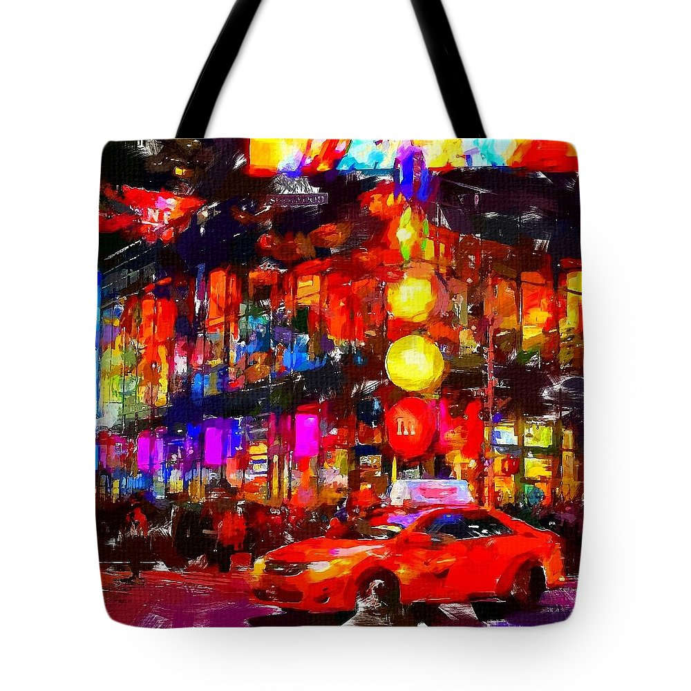 Nyc Tote Bag featuring the painting Nyc 5 by Chris Butler