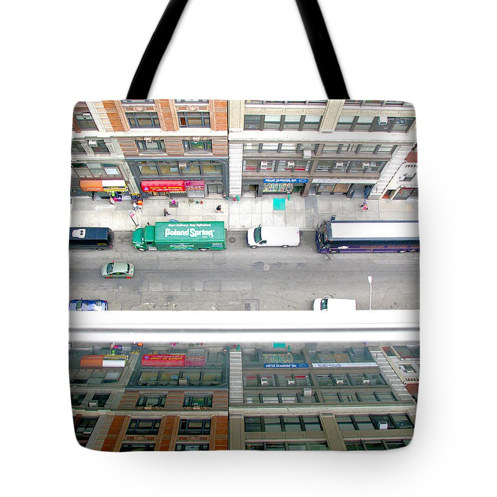 Nyc Tote Bag featuring the photograph Nyc Urban Reflection by Larry Jost