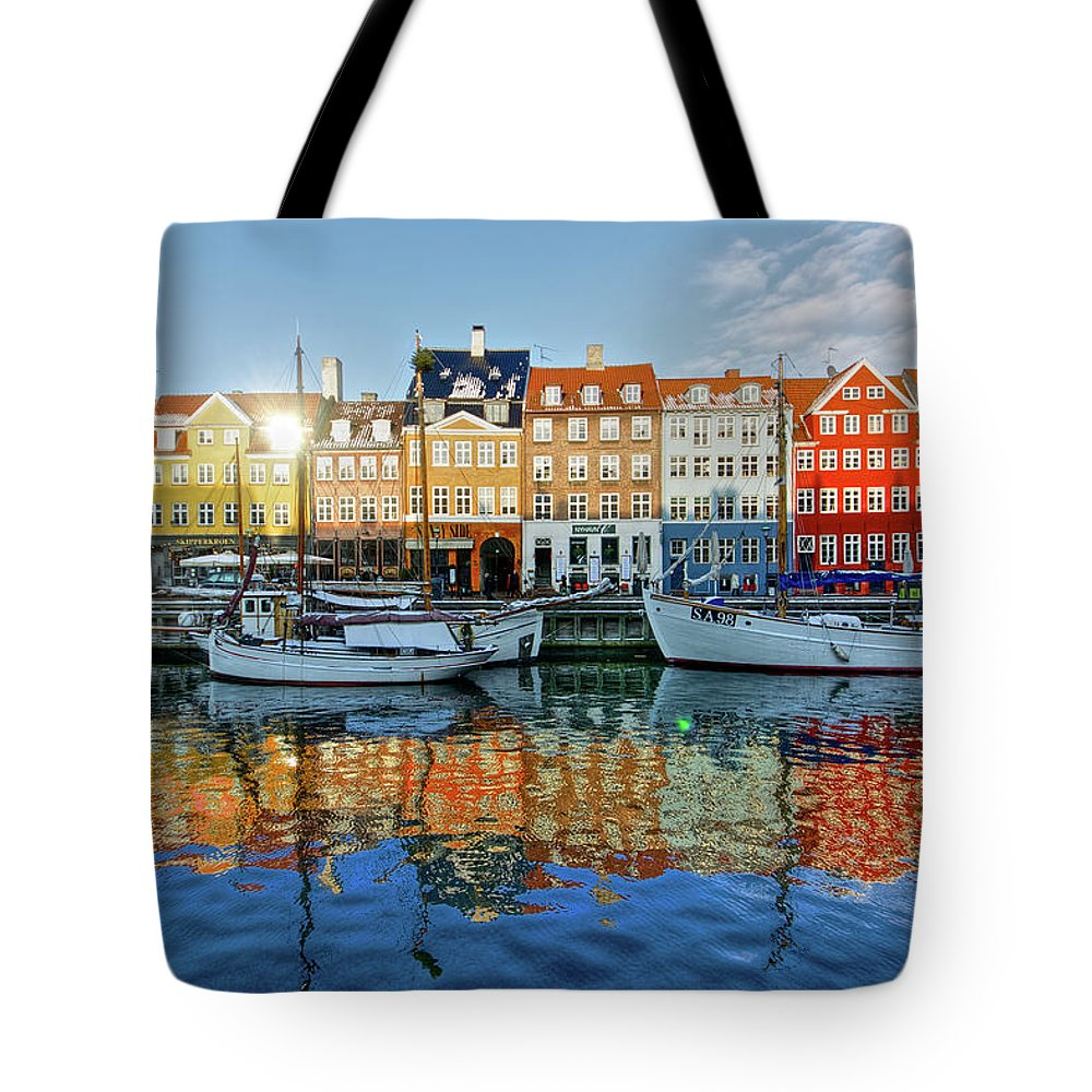 Copenhagen Tote Bag featuring the photograph Nyhavn, Copenhagen, Denmark by Kateryna Negoda