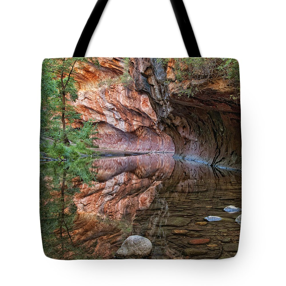 River Tote Bag featuring the photograph Oak Creek by Claudia Kuhn