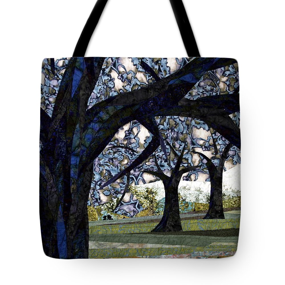 Trees Tote Bag featuring the tapestry - textile Oak Veiling by Linda Beach