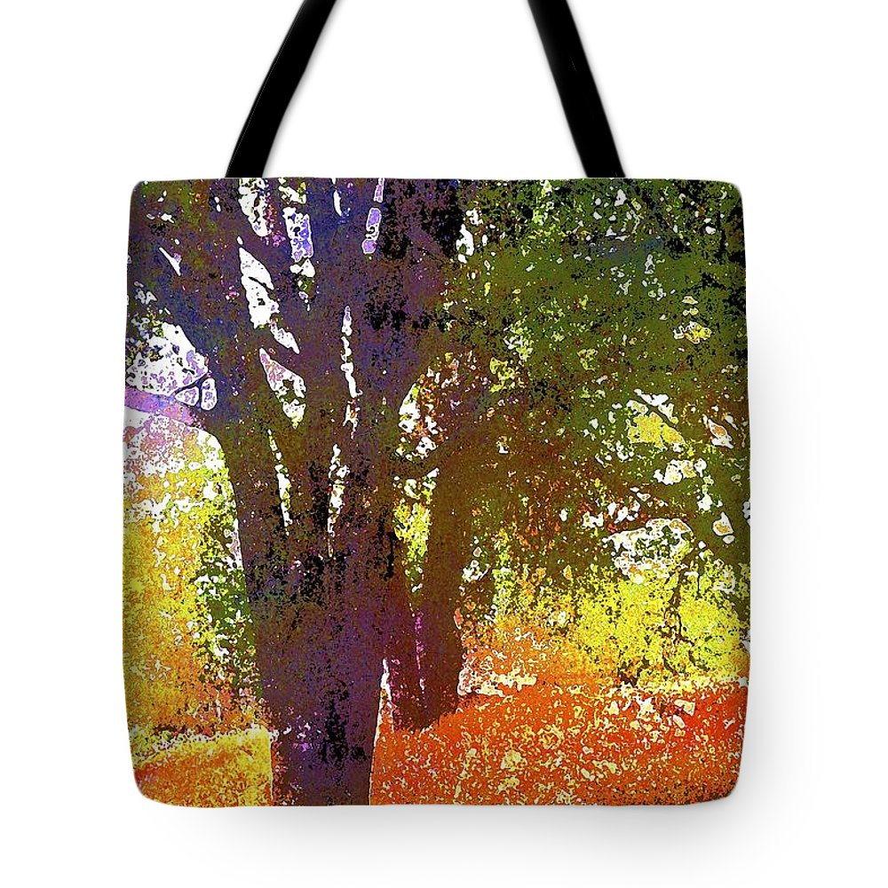 Tree Tote Bag featuring the photograph Oaks 27 by Pamela Cooper