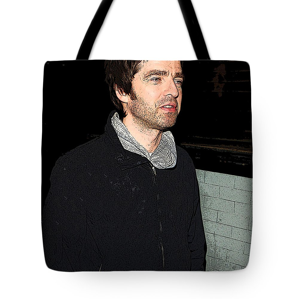 Cigarette Tote Bag featuring the photograph Oasis's Noel Gallagher by Paul Sutcliffe