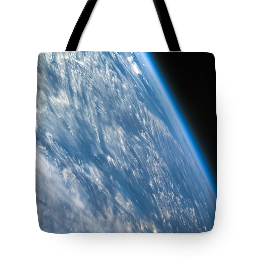3scape Tote Bag featuring the photograph Oblique Shot Of Earth by Adam Romanowicz