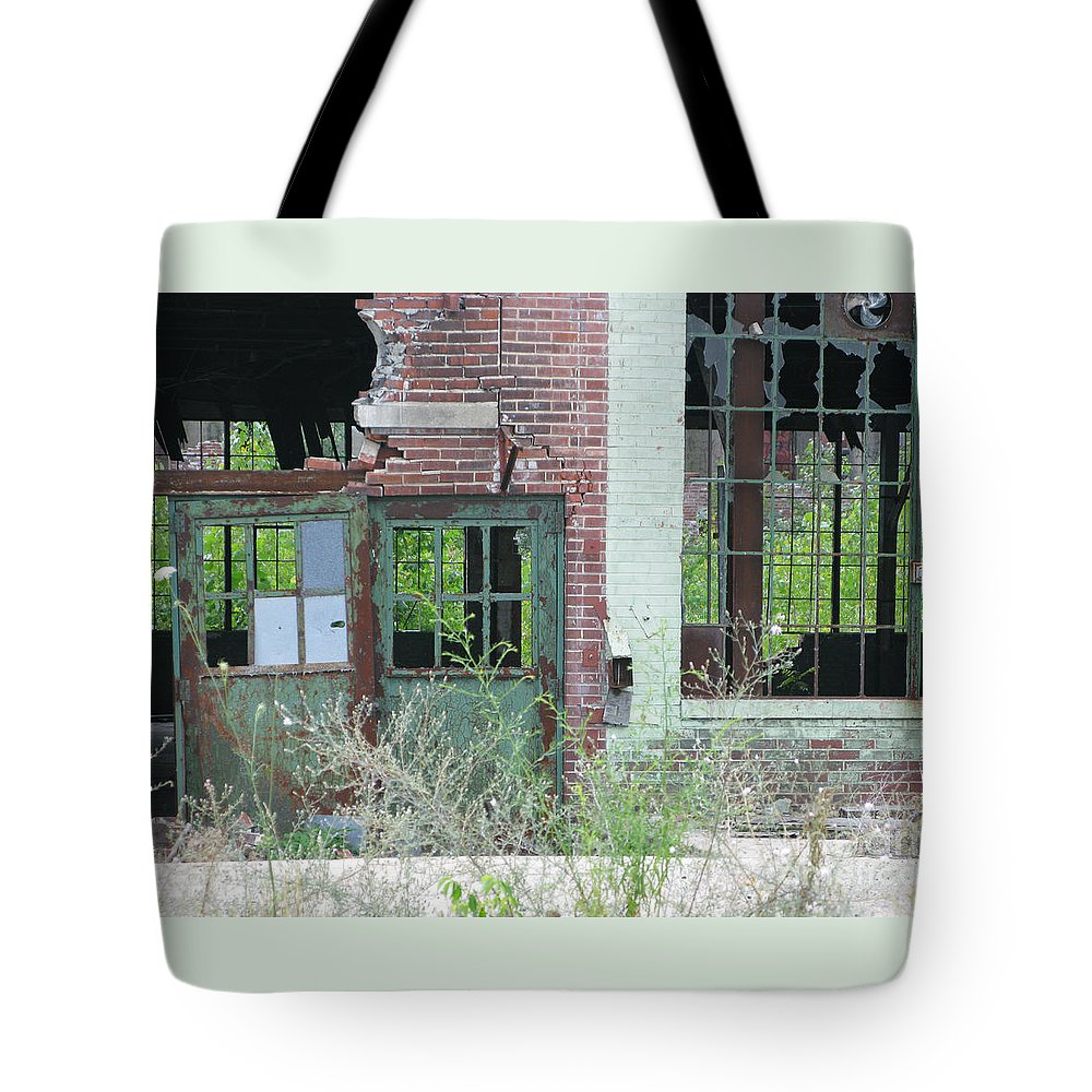 Factory Tote Bag featuring the photograph Obsolete by Ann Horn