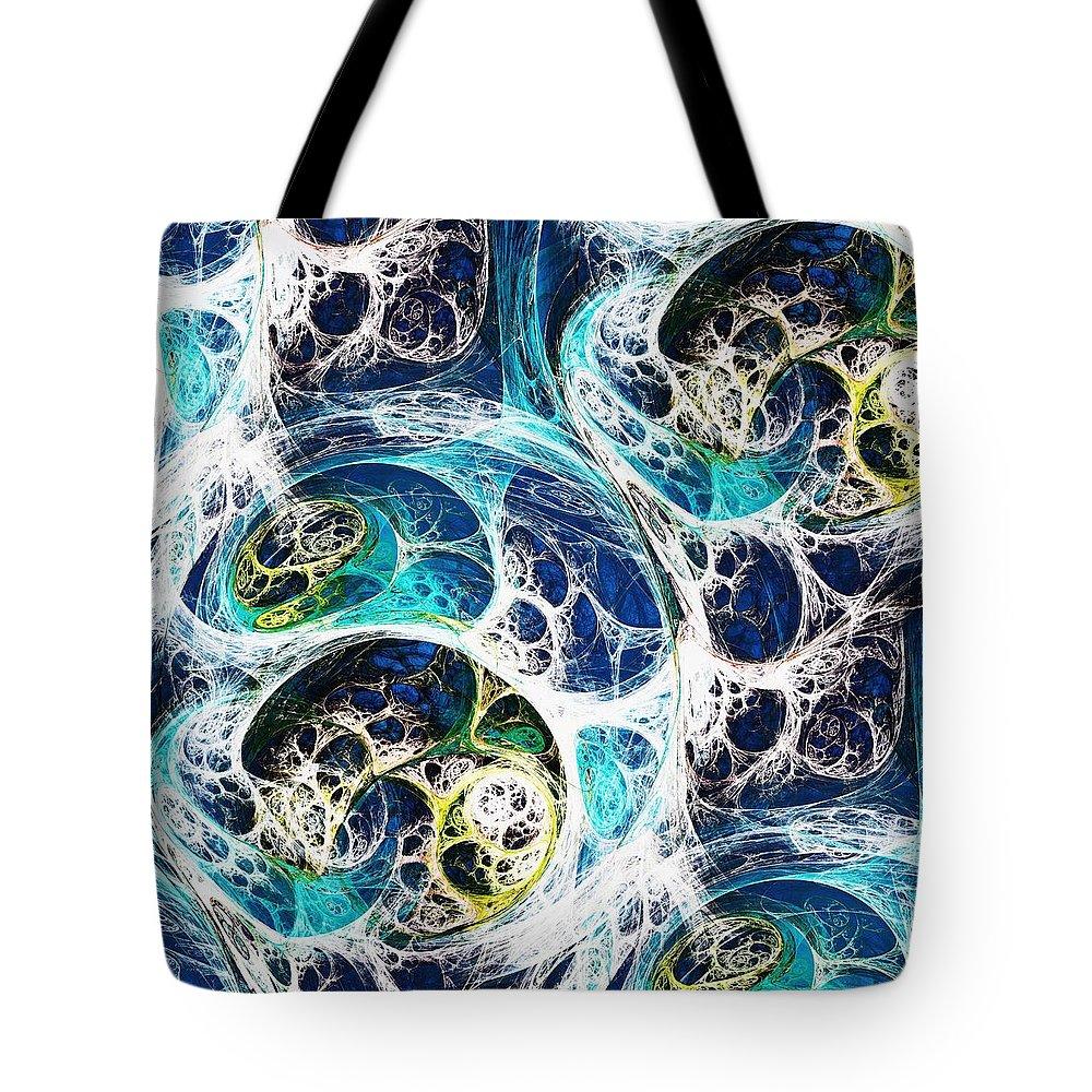 Computer Tote Bag featuring the digital art Ocean by Anastasiya Malakhova
