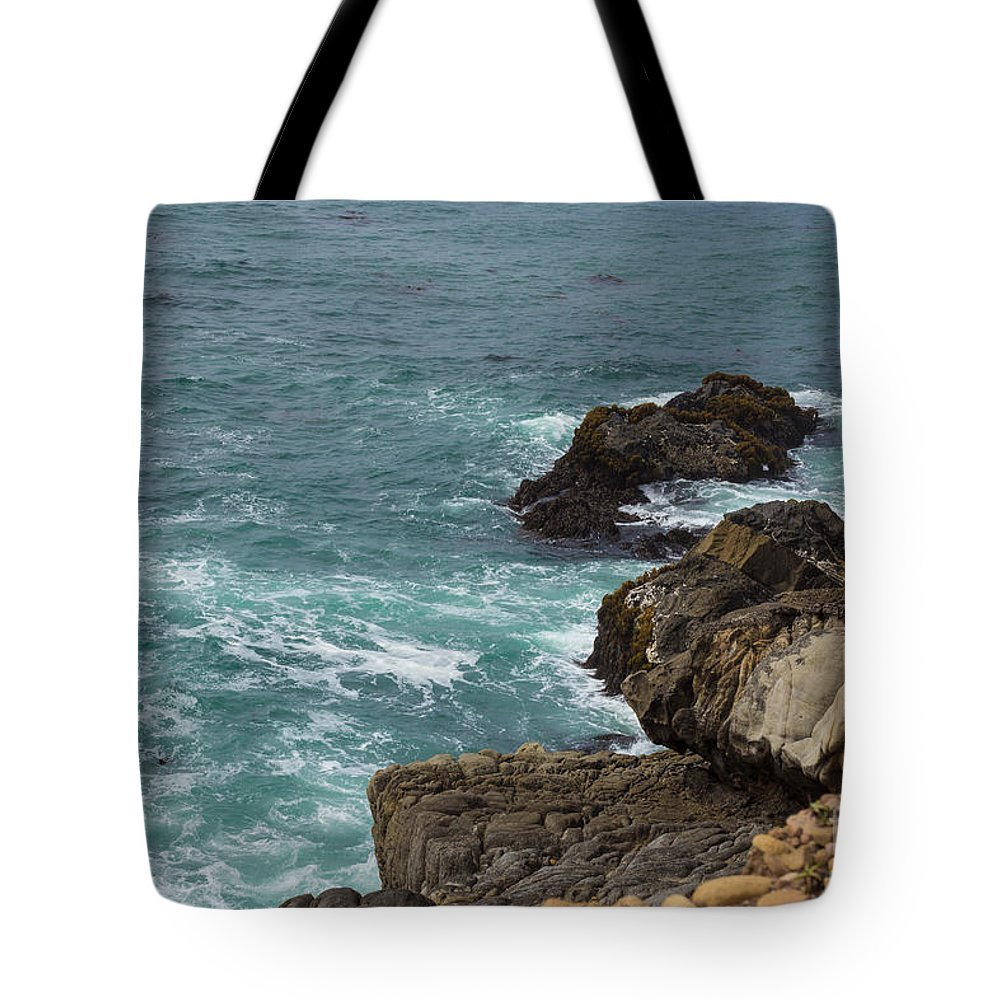 Ocean Tote Bag featuring the photograph Ocean Below by Suzanne Luft