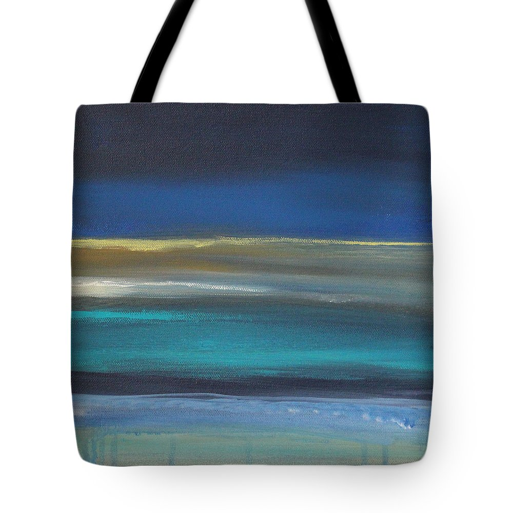 Abstract Painting Tote Bag featuring the painting Ocean Blue 2 by Linda Woods