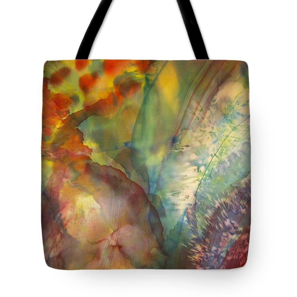 Abstract Tote Bag featuring the painting Ocean Eight by Beverly Johnson