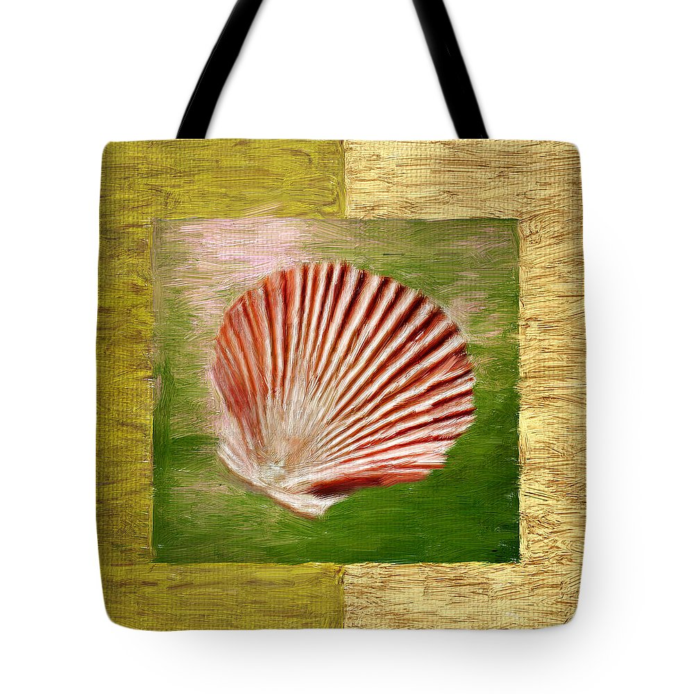 Green Tote Bag featuring the digital art Ocean Life by Lourry Legarde
