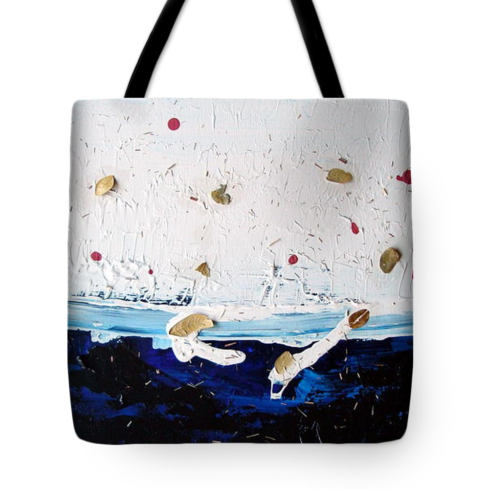 Leaves Tote Bag featuring the painting Ocean Of Leaves by Holly Picano