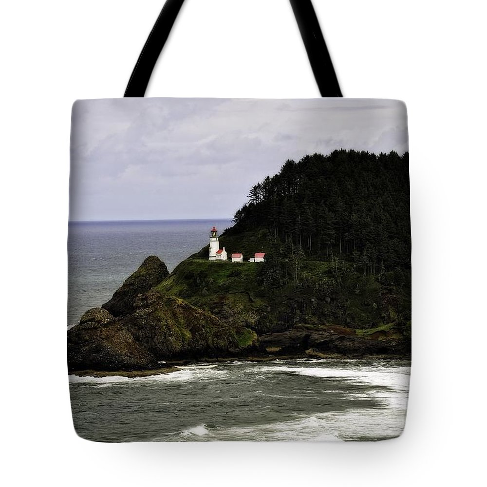 Heceta Head Tote Bag featuring the photograph Ocean Photography by Image Takers Photography LLC - Laura Morgan