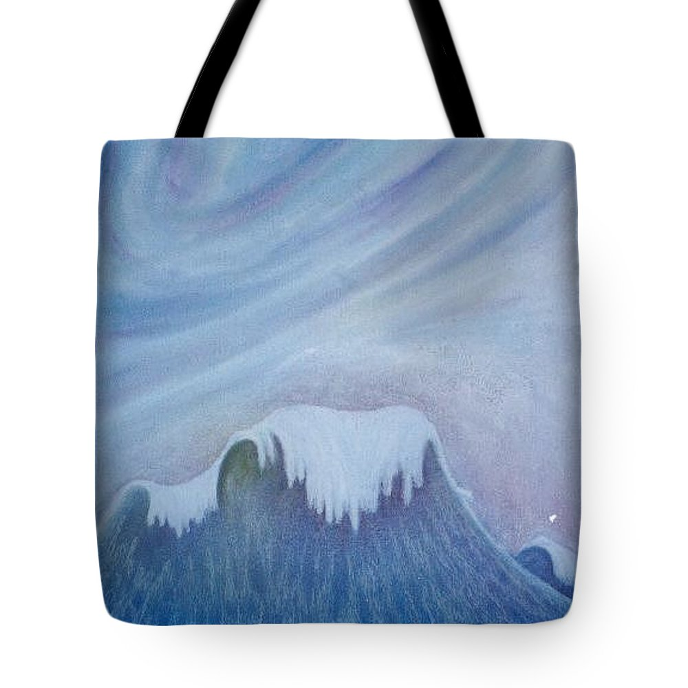 Ocean Tote Bag featuring the painting Ocean Wave by Micah Guenther