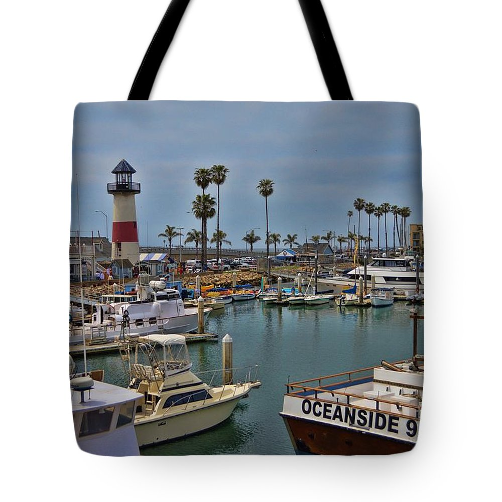 Oceanside Tote Bag featuring the photograph Oceanside Harbor by Tommy Anderson