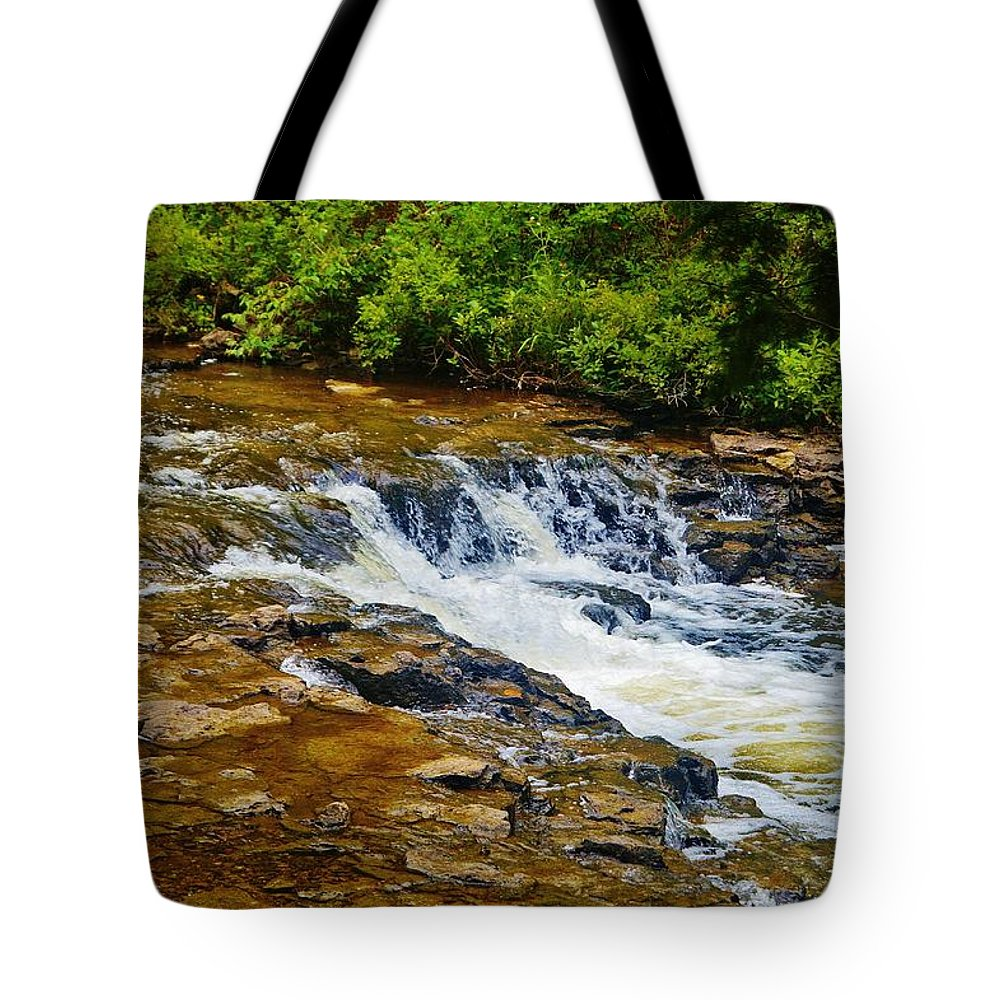Tote Bag featuring the photograph Ocqueoc Falls 2 by Daniel Thompson