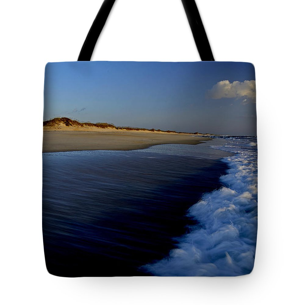 Outer Banks Tote Bag featuring the photograph Ocracoke Surf by Eric Albright