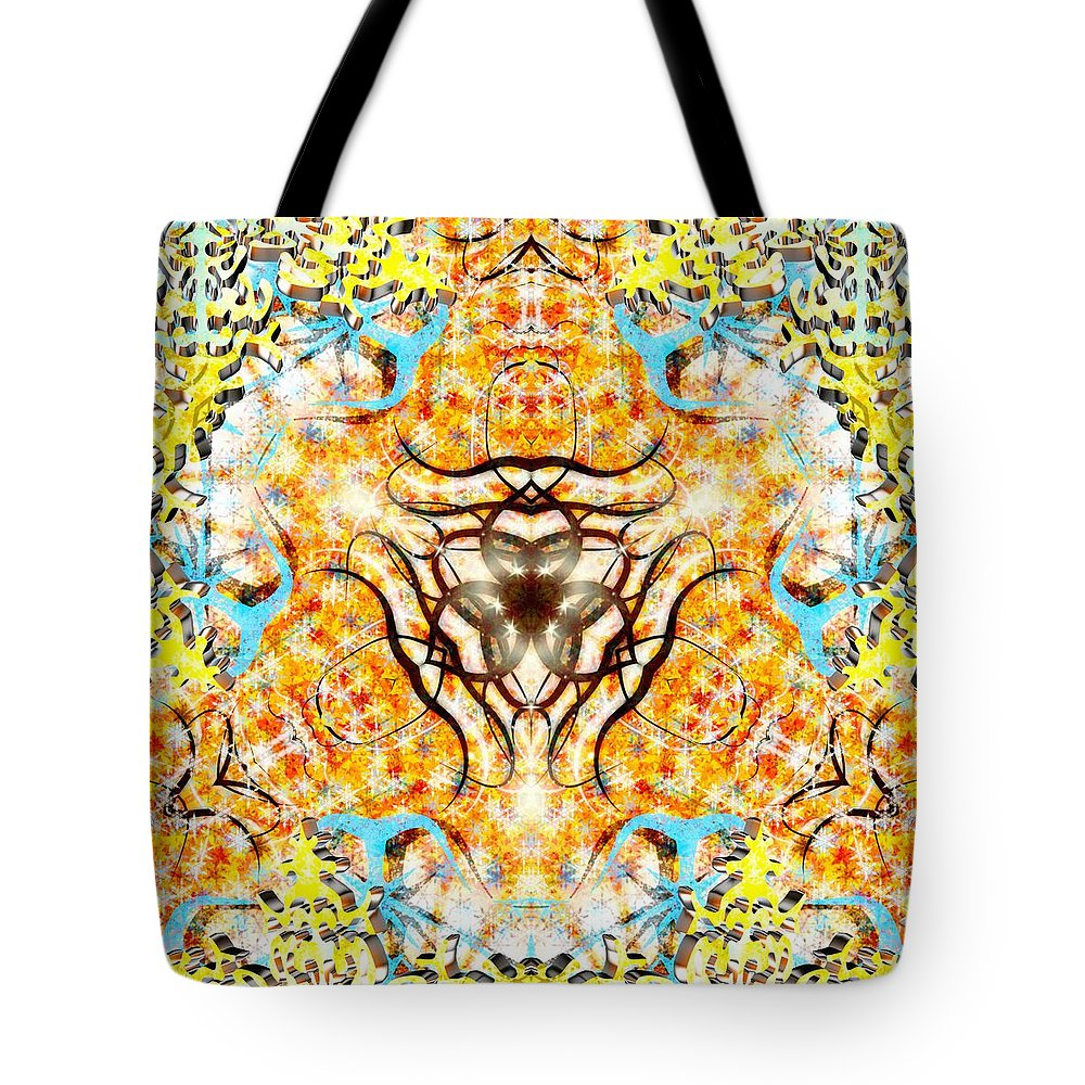 Sacredlife Mandalas Tote Bag featuring the digital art October Snow by Derek Gedney
