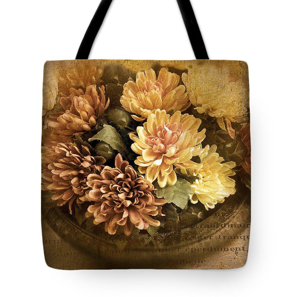 Flowers Tote Bag featuring the photograph October Still Life by Jessica Jenney