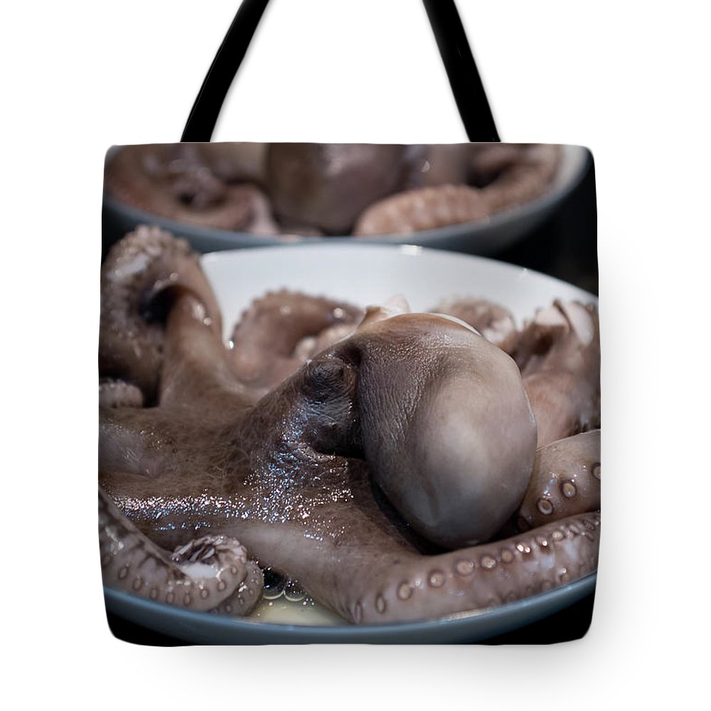 Serving Dish Tote Bag featuring the photograph Octopus by Katya Lyukum