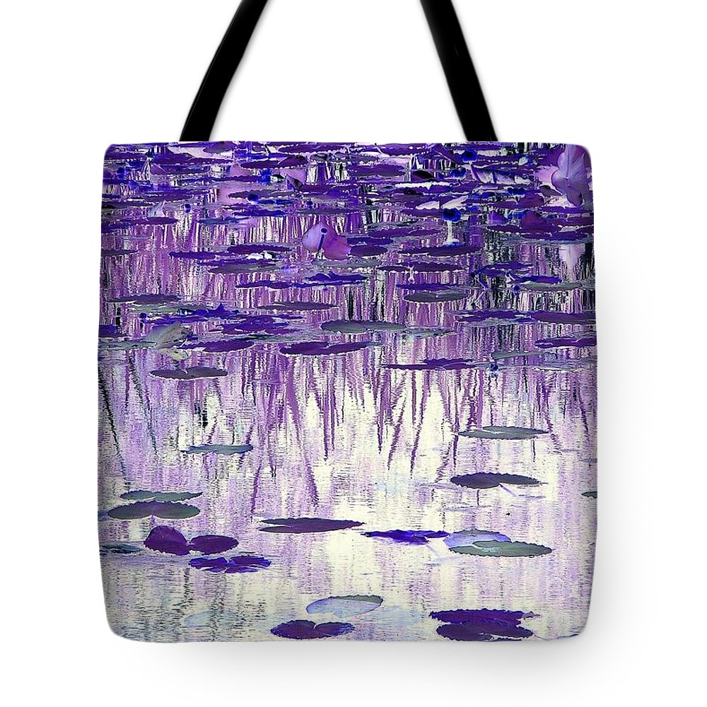 Ode To Monet Tote Bag featuring the photograph Ode To Monet In Purple by Chris Anderson