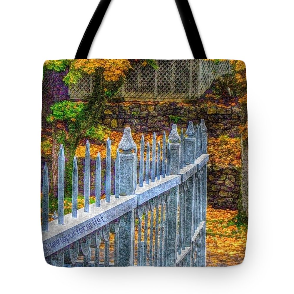 Fabscape Tote Bag featuring the photograph Of Stone And Nature - Pointing The Way by Anna Porter