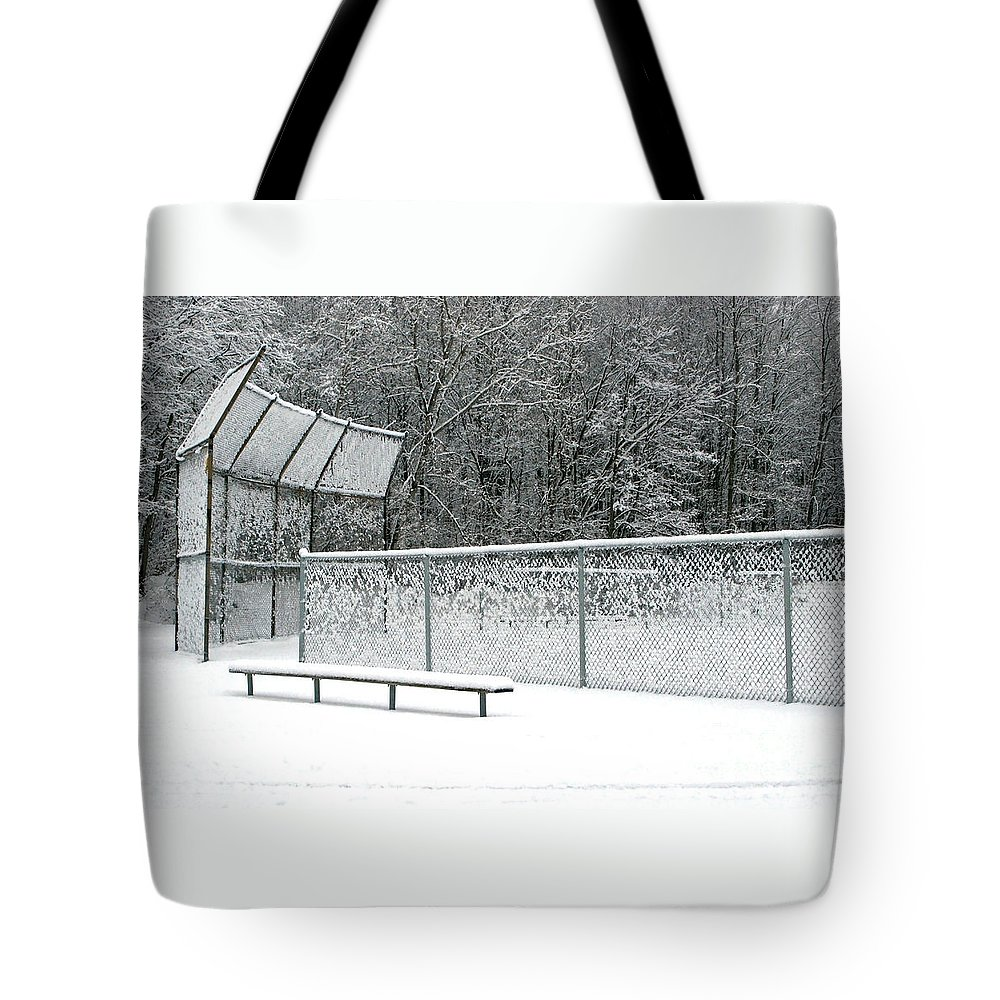 Winter Tote Bag featuring the photograph Off Season by Ann Horn
