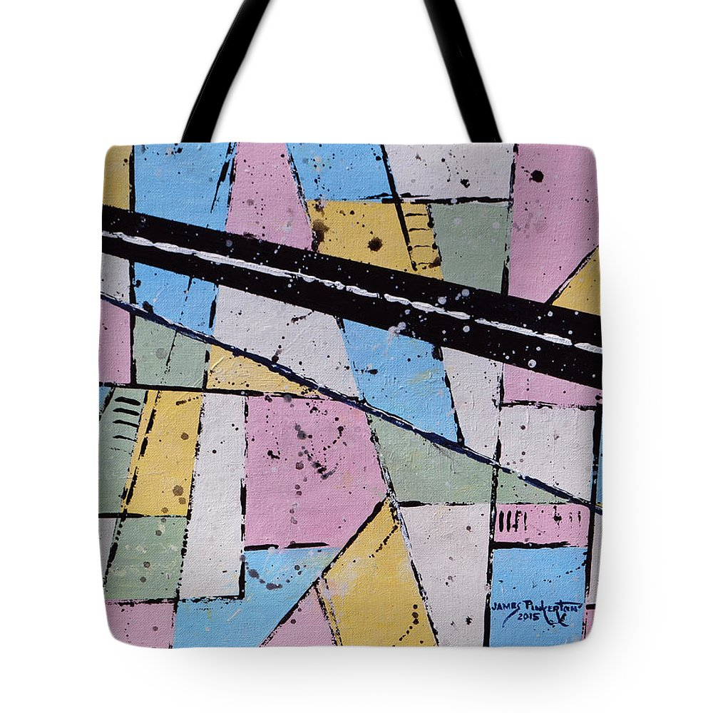 Map Tote Bag featuring the painting Off The Map by James Pinkerton