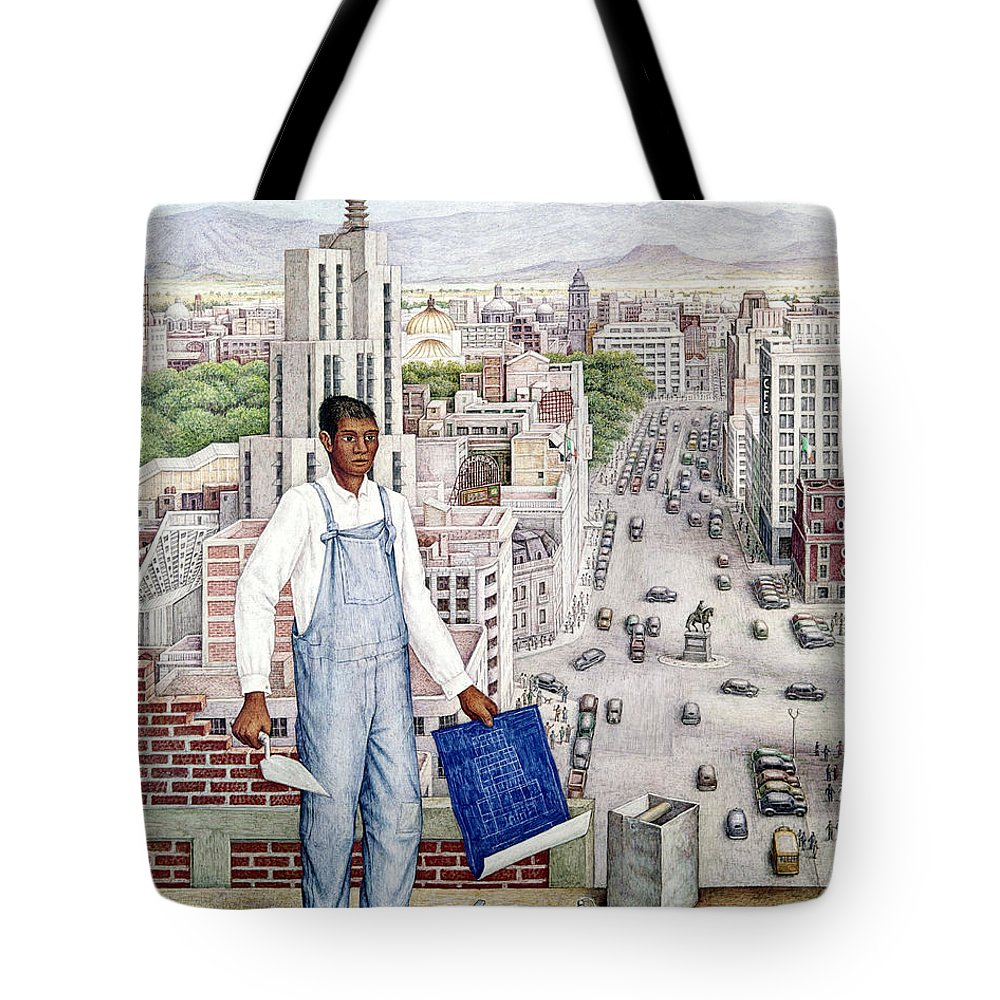 1949 Tote Bag featuring the photograph Ogorman: City Of Mexico by Granger