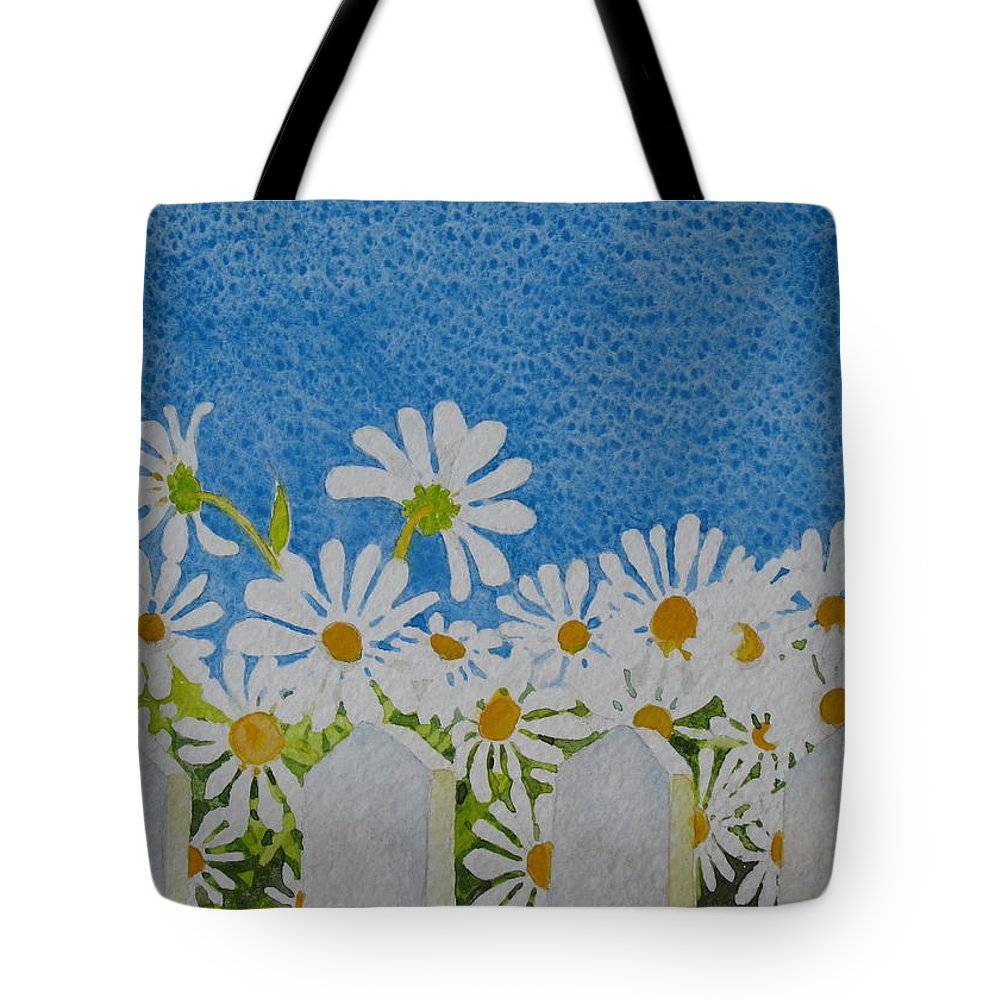 Flowers Tote Bag featuring the painting Oh Happy Day by Mary Ellen Mueller Legault