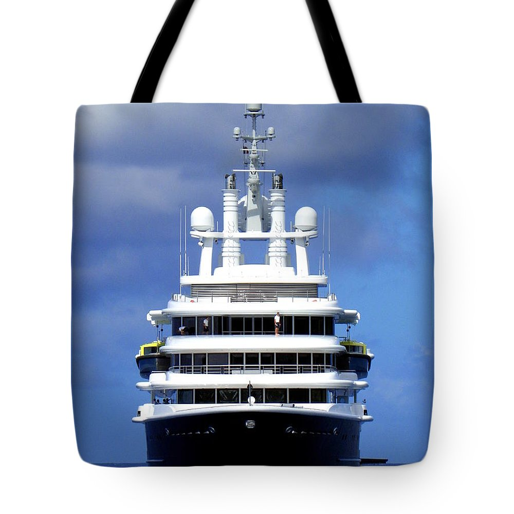 Luna Tote Bag featuring the photograph Oh Magnificent Luna by Karen Wiles