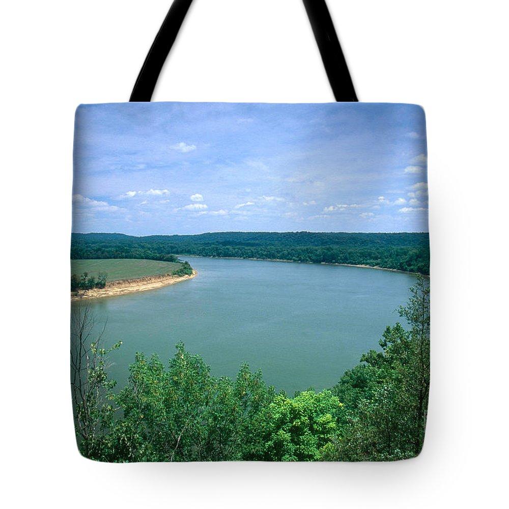 Ohio River Tote Bag featuring the photograph Ohio River by David Davis
