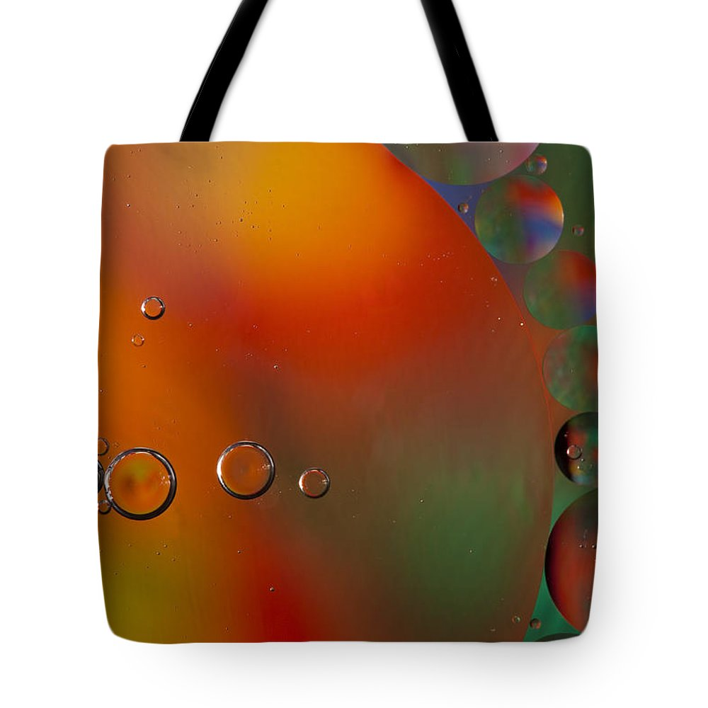 Abstract Tote Bag featuring the photograph Oil And Water 10 by John Brueske