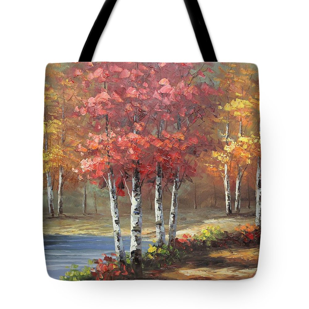 Originals Tote Bag featuring the painting Oil Msc 049 by Mario Sergio Calzi