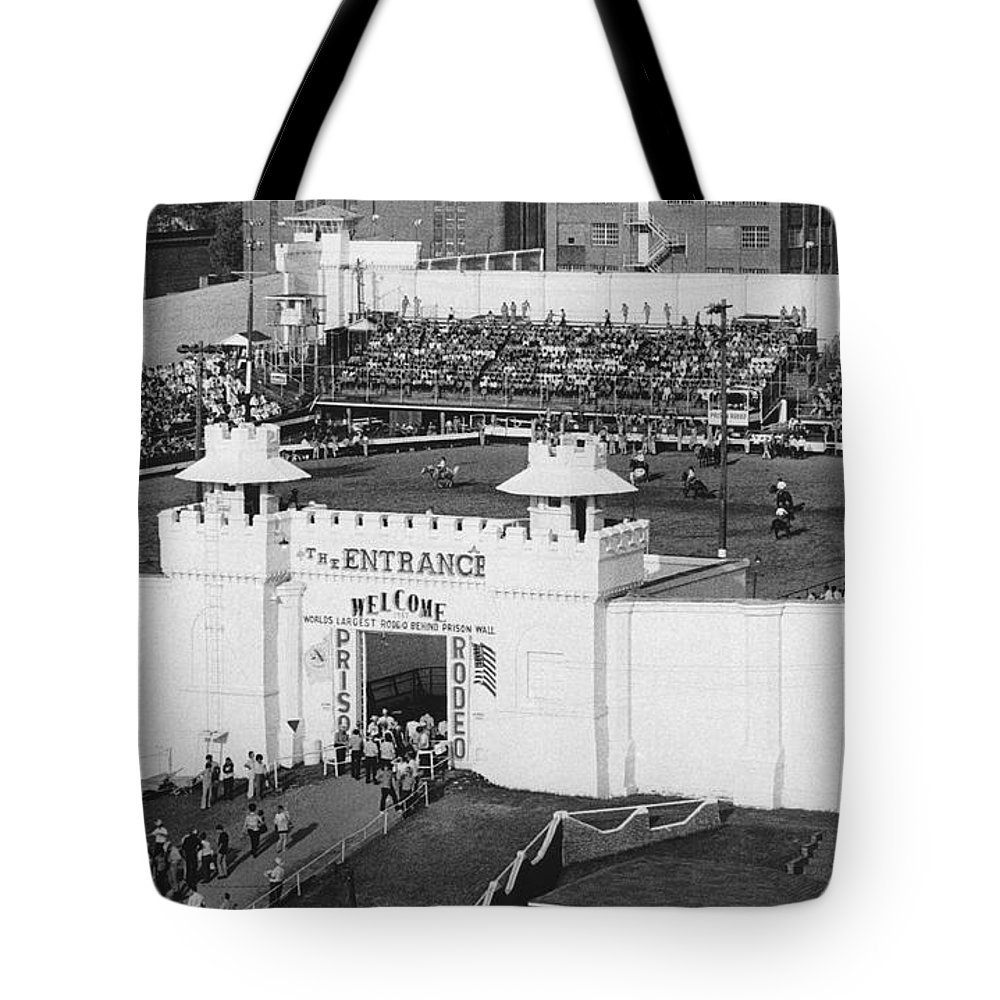 1960s Tote Bag featuring the photograph Oklahoma Prison Rodeo by Underwood Archives