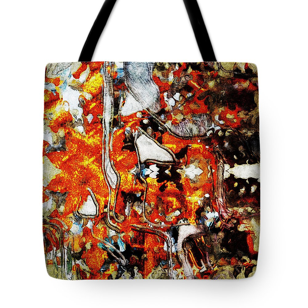 Colorful Tote Bag featuring the digital art Oktober Fest by Mike Butler